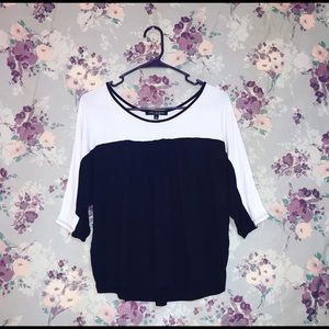 Black & White 3/4 Sleeve Top
